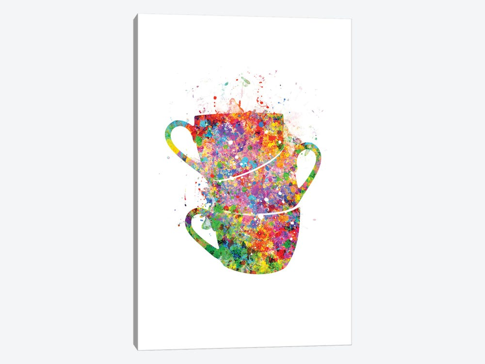 Cups Stacked by Genefy Art 1-piece Canvas Print