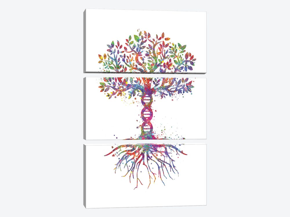 DNA Tree by Genefy Art 3-piece Canvas Print