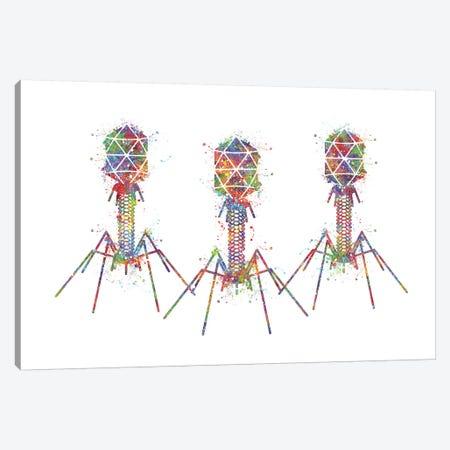 Bacteriophage III Canvas Print #GFA4} by Genefy Art Canvas Artwork