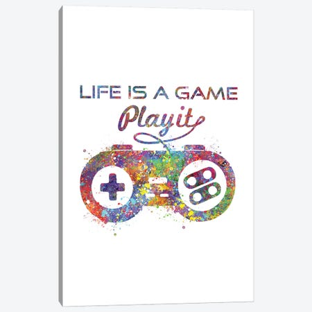 Game Controller Canvas Print #GFA58} by Genefy Art Canvas Art Print