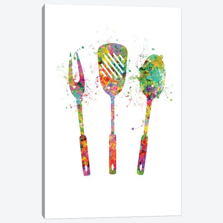 Grill Utensils Canvas Print #GFA60} by Genefy Art Canvas Art