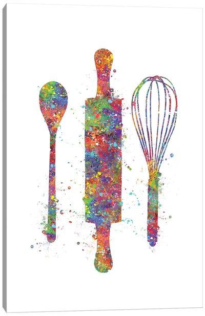 Baking Utensils Canvas Art Print