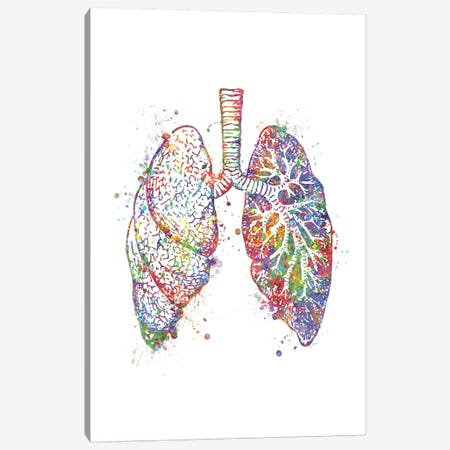 Lungs Canvas Print #GFA81} by Genefy Art Canvas Wall Art