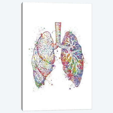 Lungs Canvas Print #GFA81} by Genefy Art Canvas Wall Art
