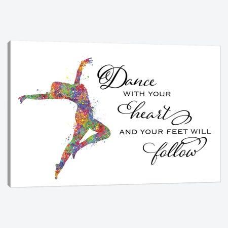 Lyrical Dance Quote Heart Follow Canvas Print #GFA84} by Genefy Art Canvas Art Print
