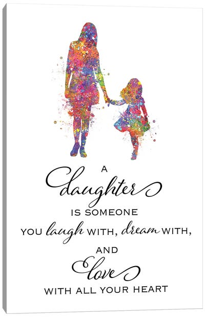 Mother Daughter Quote Canvas Art Print