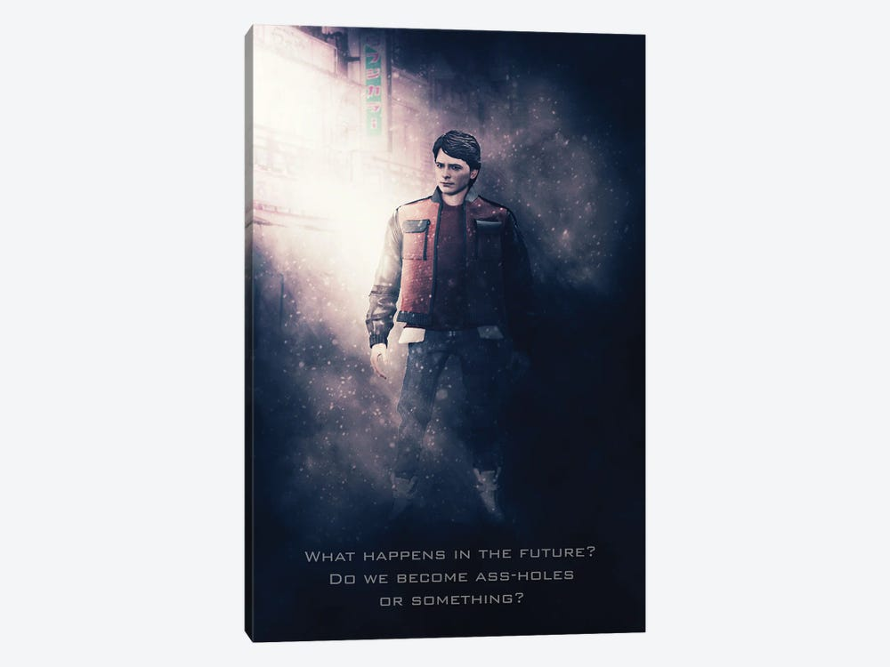 Back To The Future Marty by Gab Fernando 1-piece Canvas Artwork
