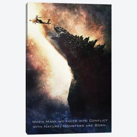 Godzilla Canvas Print #GFN140} by Gab Fernando Art Print