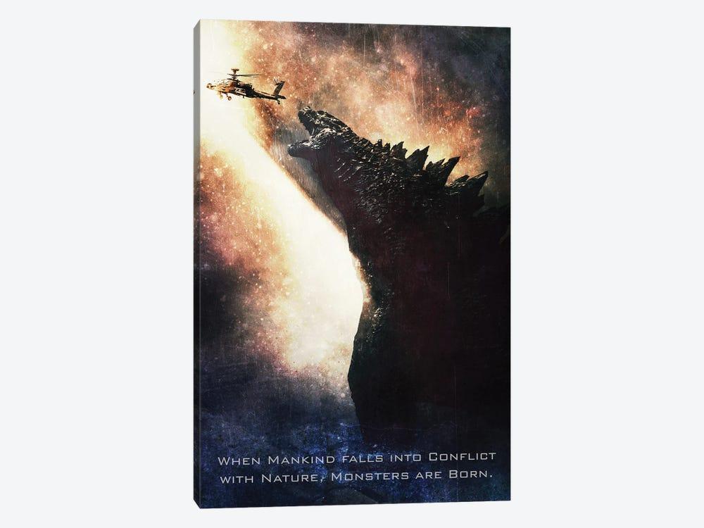 Godzilla by Gab Fernando 1-piece Canvas Wall Art