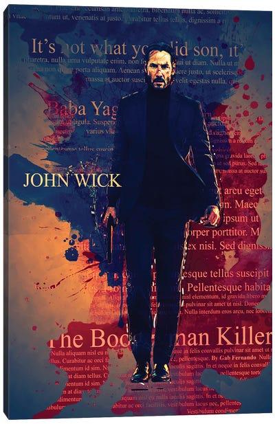 John Wick Color Splash Canvas Art Print