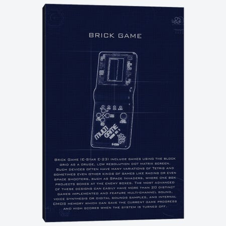 Brickgame Canvas Print #GFN203} by Gab Fernando Canvas Artwork