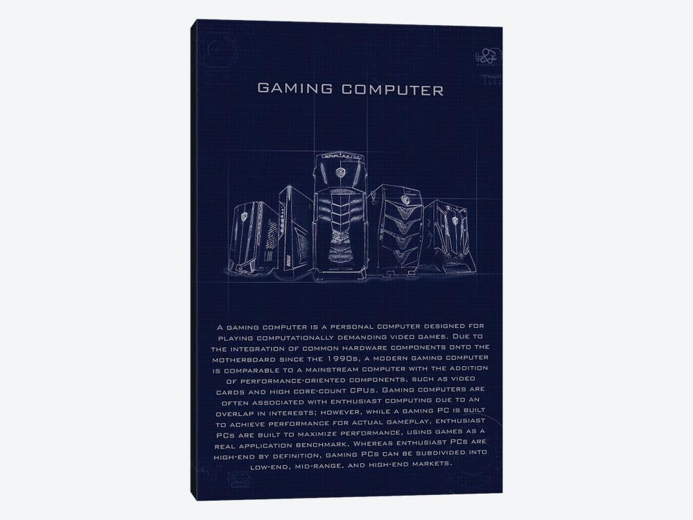 Gaming Computer by Gab Fernando 1-piece Canvas Art Print