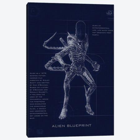 Alien Blueprint Canvas Print #GFN239} by Gab Fernando Canvas Print