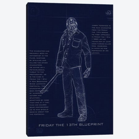 Jason Blueprint Canvas Print #GFN242} by Gab Fernando Canvas Artwork
