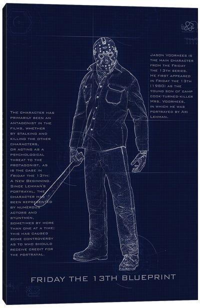 Jason Blueprint Canvas Art Print