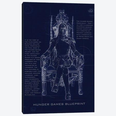 Hunger Games Blueprint Canvas Print #GFN244} by Gab Fernando Canvas Art Print