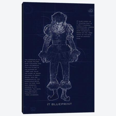 Pennywise Blueprint Canvas Print #GFN245} by Gab Fernando Art Print