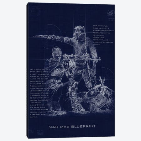 Madmax Blueprint Canvas Print #GFN247} by Gab Fernando Art Print