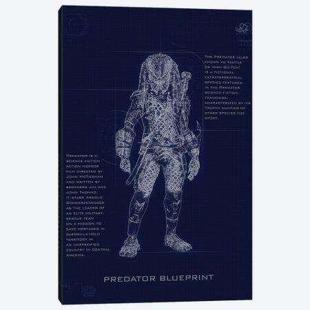 Predator Blueprint Canvas Print #GFN248} by Gab Fernando Canvas Artwork