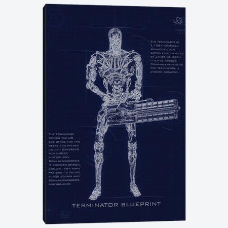 Terminator T2 Blueprint Canvas Print #GFN250} by Gab Fernando Art Print