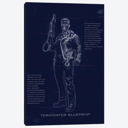Terminator T3 Blueprint Canvas Print #GFN251} by Gab Fernando Art Print