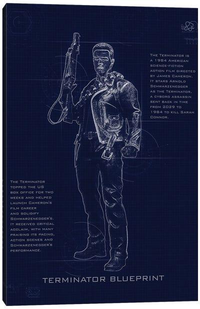 Terminator T3 Blueprint Canvas Art Print