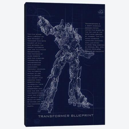 Optimus Prime Blueprint Canvas Print #GFN253} by Gab Fernando Art Print
