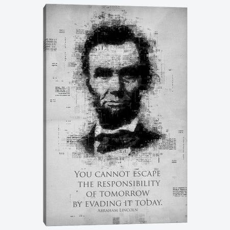 Abraham Lincoln Canvas Print #GFN256} by Gab Fernando Canvas Art