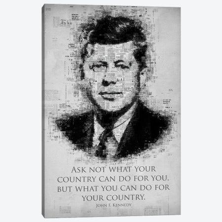 John F. Kennedy Canvas Print #GFN262} by Gab Fernando Canvas Wall Art