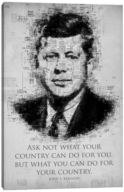 John F. Kennedy Canvas Art Print