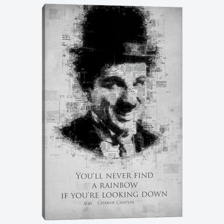 Charlie Chaplin Canvas Print #GFN284} by Gab Fernando Art Print