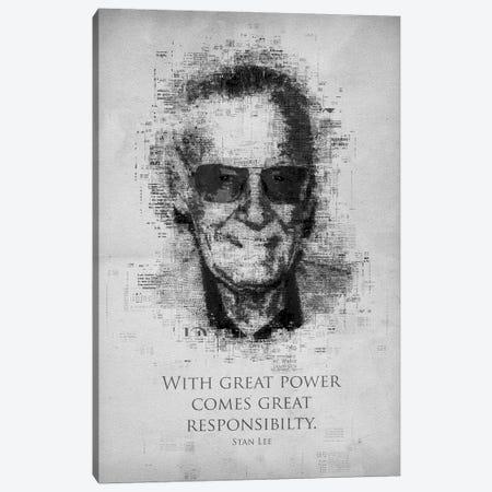 Stan Lee Canvas Print #GFN286} by Gab Fernando Art Print