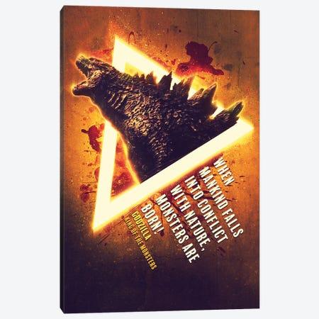 Godzilla Renegade Canvas Print #GFN295} by Gab Fernando Canvas Wall Art