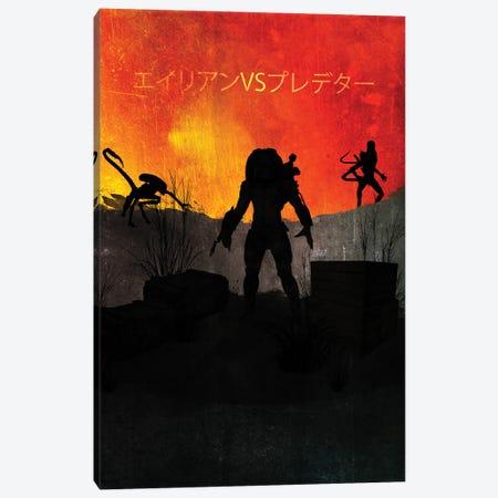 Alien Versus Predator Canvas Print #GFN2} by Gab Fernando Canvas Artwork