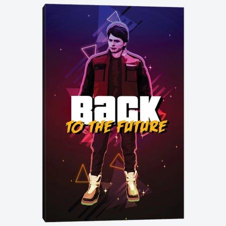 Back To The Future Marty Retro Canvas Print #GFN302} by Gab Fernando Art Print