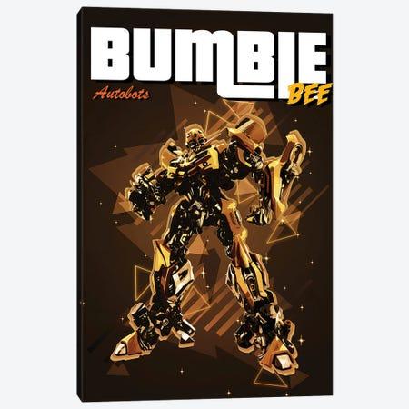 Bumble Bee Retro Canvas Print #GFN313} by Gab Fernando Canvas Art
