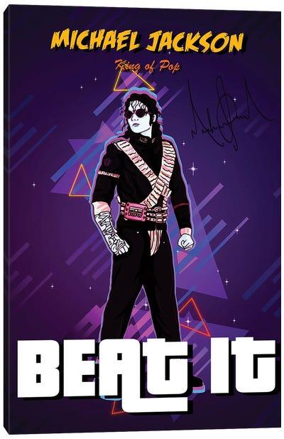 Beat It Retro Canvas Art Print