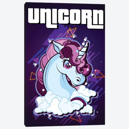 Unicorn Retro I Canvas Print #GFN321} by Gab Fernando Art Print