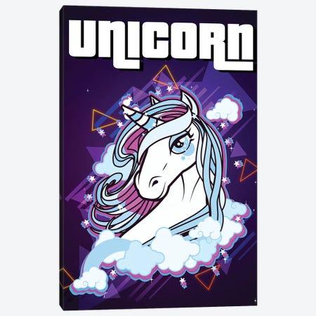Unicorn Retro II Canvas Print #GFN322} by Gab Fernando Canvas Print