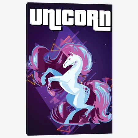 Unicorn Retro III Canvas Print #GFN323} by Gab Fernando Canvas Art Print
