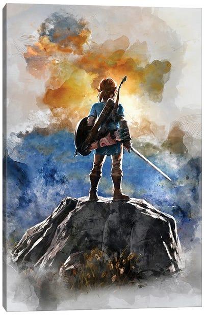 Link Watercolor I Canvas Art Print