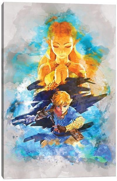 Zelda Watercolor Canvas Art Print