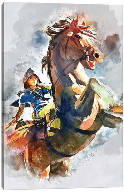 Link Watercolor III Canvas Art Print
