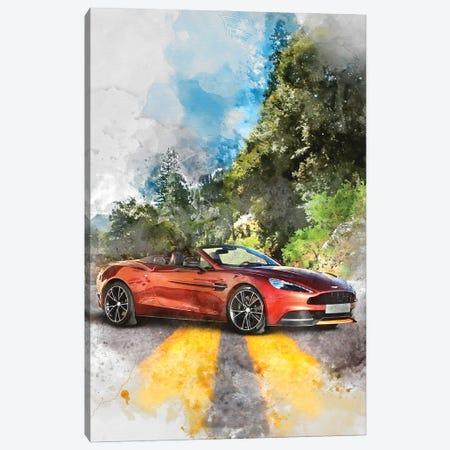 Aston Martin Vanquish Volante Canvas Print #GFN365} by Gab Fernando Canvas Artwork