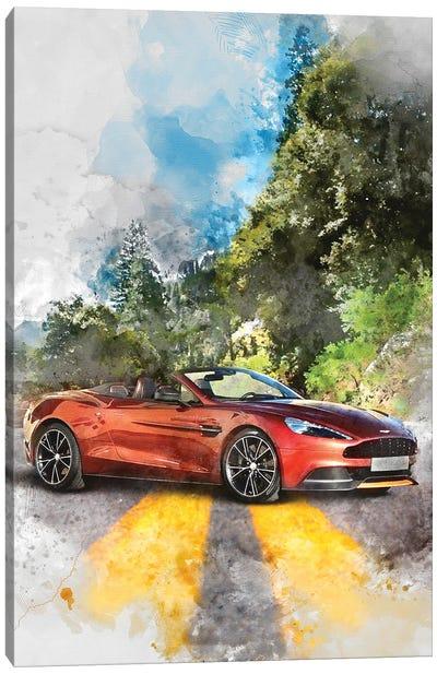Aston Martin Vanquish Volante Canvas Art Print