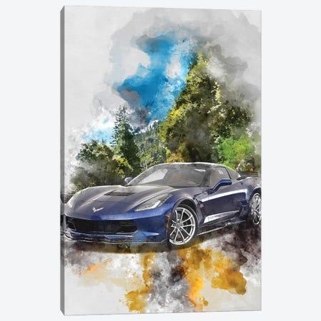Chevrolet Corvette Canvas Print #GFN368} by Gab Fernando Canvas Print