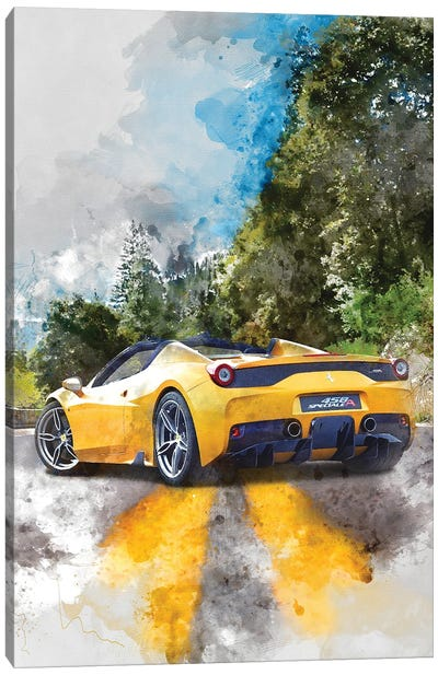 Ferrari 458 Speciale Apert Canvas Art Print