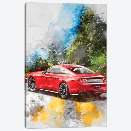 Ford Mustang Canvas Print #GFN371} by Gab Fernando Canvas Wall Art