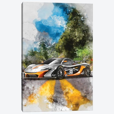 Mclaren P1 GTR Canvas Print #GFN375} by Gab Fernando Art Print