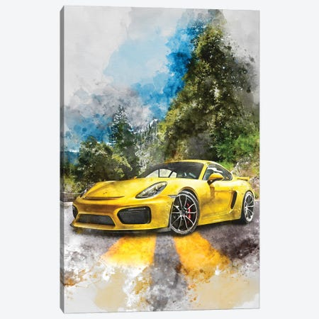 Porsche Cayman GT4 Canvas Print #GFN376} by Gab Fernando Canvas Print